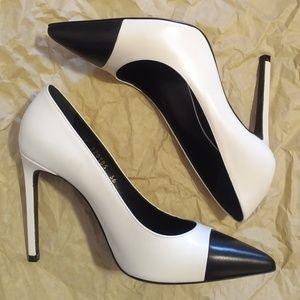 Saint Laurent Bi-Color Captoe Heel